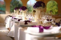 cerimonia nuziale della tabella Fotografia Stock