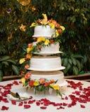cerimonia nuziale della torta Fotografia Stock