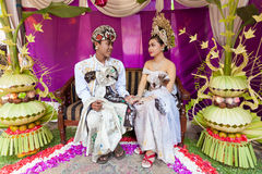 Cerimonia nuziale di Balinese Fotografia Stock