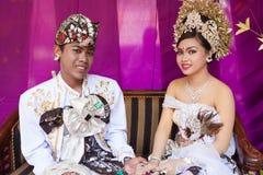 Cerimonia nuziale di Balinese immagine stock