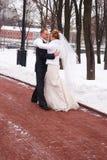 Cerimonia nuziale di inverno fotografie stock libere da diritti