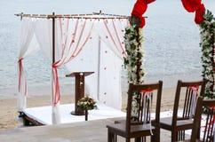 Cerimonia nuziale di spiaggia Immagini Stock