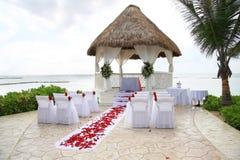 Cerimonia nuziale di spiaggia Fotografie Stock Libere da Diritti