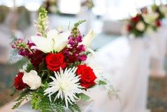 Cerimonia nuziale e fiori Fotografia Stock Libera da Diritti