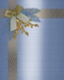 Cerimonia nuziale elegante di inverno del bordo dell'invito Fotografie Stock