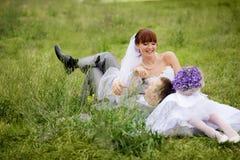 cerimonia nuziale felice delle coppie Fotografia Stock