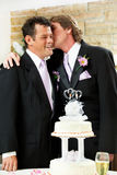 Cerimonia nuziale gaia - momento affettuoso Fotografia Stock