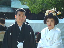 Cerimonia nuziale giapponese Fotografie Stock Libere da Diritti