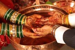 Cerimonia nuziale indiana Fotografia Stock