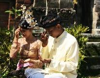 Cerimonia nuziale indonesiana Fotografia Stock