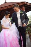 Cerimonia nuziale: Sposa e sposo Immagine Stock