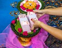 Cerimonia nuziale tailandese Fotografia Stock Libera da Diritti