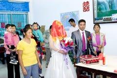 Cerimonia nuziale tradizionale cinese Fotografia Stock