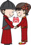 Cerimonia nuziale tradizionale cinese royalty illustrazione gratis