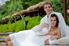 Cerimonia nuziale tropicale immagine stock libera da diritti