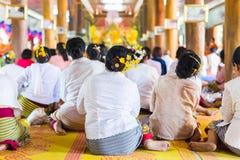 Cerimonia santa della Tailandia fotografie stock libere da diritti