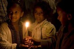 Cerimonia santa etiopica del fuoco Fotografie Stock Libere da Diritti