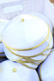 Cerimonial Skullcaps. Close up of some cerimonials jew skullcaps Stock Photos