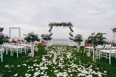 Cerimonie dell'arco di nozze Immagini Stock Libere da Diritti