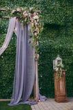 Cerimonie dell'arco di nozze Immagine Stock
