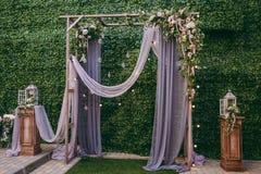 Cerimonie dell'arco di nozze Fotografie Stock Libere da Diritti