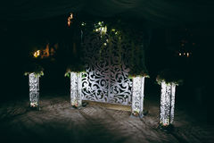 Cerimonie dell'arco di nozze Fotografia Stock