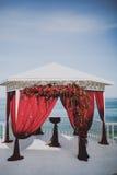 Cerimonie dell'arco di nozze Fotografia Stock Libera da Diritti