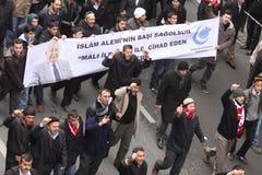 Cerimonie funeree dell'assistere turco anziano Fotografia Stock