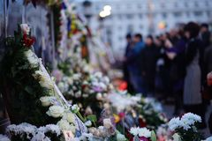 Cerimonie funeree per re Michele I di Romania immagine stock libera da diritti