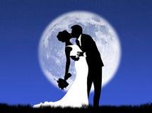 Cerimonie nuziali nella luna Fotografia Stock