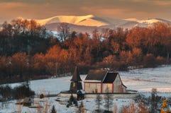Cerin kościół i Krizna góra obraz royalty free