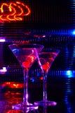 Cerise dans martini Images libres de droits