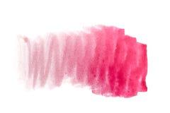 Cerise målarfärg för vattenfärgbakgrund Arkivfoton