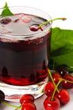 Cerise rouge d'ank de boissons Images libres de droits