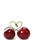 Cerises dans l'amour Photo libre de droits