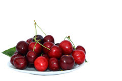 Cerises du plat Photo stock