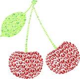 Cerises rouges illustration stock