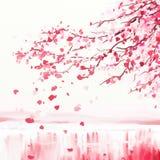 Cerisier japonais illustration de vecteur