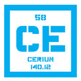 Cerium chemical element Royalty Free Stock Photography