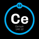 Cerium chemical element Royalty Free Stock Photos