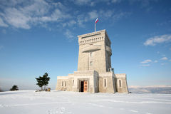 Cerje Monument in winter time Royalty Free Stock Photos