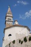 Cerkev s V Franciska Asiskega, Piran Стоковые Фото