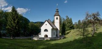 Cerkev Sv. Duh church near Ribcev Laz on Bohinj lake in Triglav national park in Slovenia. Cerkev Sv. Duh church near Ribcev Laz on Bohinj lake in Triglav Royalty Free Stock Photography