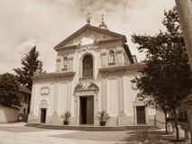 Cermenate Church, Italy - sepia Stock Photography