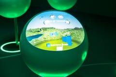CERN, uma construção da exposição para dentro. Fotos de Stock Royalty Free