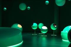 CERN, un edificio de la exposición dentro. Imagen de archivo libre de regalías