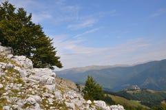 The Mehedinti Mountains, Romania. Cerna Mountains near Hercules Baths, Carpathians, Romania Royalty Free Stock Image