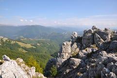 The Mehedinti Mountains, Romania. Cerna Mountains near Hercules Baths, Carpathians, Romania Royalty Free Stock Photo