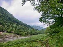 Cerna river. At Baile Herculane Royalty Free Stock Image