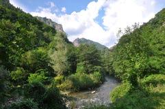 Cerna River. In the Mehedinti Mountains, Romania Stock Photos